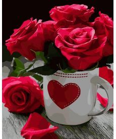 Картина по номерам Розовое сердце 40 х 50 см (AS0020)
