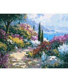 Картина по номерам Тропинка в цветах 40 х 50 см (AS0026)