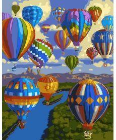 Картина по номерам Полет воздушных шаров 40 х 50 см (AS0034)
