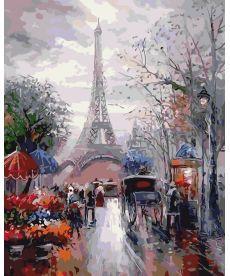 Картина по номерам Французская улочка 40 х 50 см (AS0035)