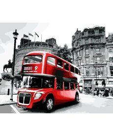 Картина по номерам Лондонский автобус 40 х 50 см (AS0041)