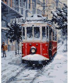 Картина по номерам Заснеженный трамвай 40 х 50 см (AS0042)