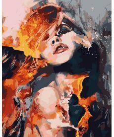 Картина по номерам Огненная страсть 40 х 50 см (AS0086)