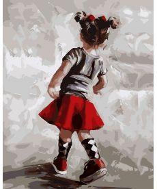 Картина по номерам Маленькая модница 40 х 50 см (AS0092)
