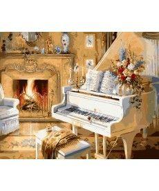 Картина по номерам Белый рояль 40 х 50 см (AS0101)