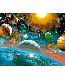 Картина по номерам Музыка вселенной 40 х 50 см (AS0104)
