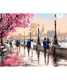 Картина по номерам Цветущая набережная 40 х 50 см (AS0135)