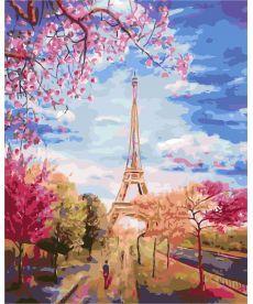 Картина по номерам Весеннее небо Парижа 40 х 50 см (AS0137)