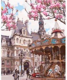 Картина по номерам Париж. Отель-де-Виль 40 х 50 см (AS0147)