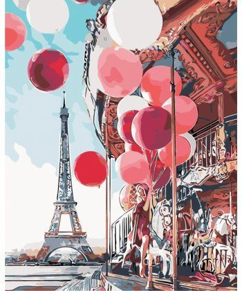 Картина по номерам Парижская сказка 40 х 50 см (AS0148)