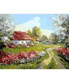 Картина по номерам Родное село 40 х 50 см (AS0156)