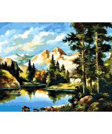 Картина по номерам Горный пейзаж 40 х 50 см (AS0162)