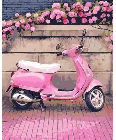 Картина по номерам Розовый скутер 40 х 50 см (AS0200)