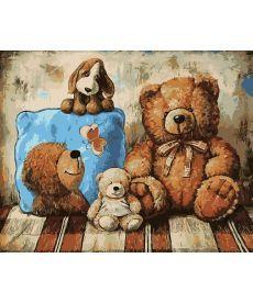 Картина по номерам Плюшевые друзья 40 х 50 см (AS0212)