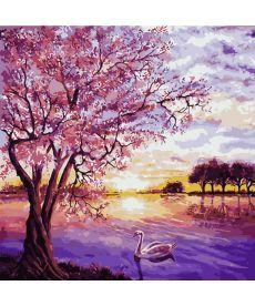 Картина по номерам Закат в розовых тонах 40 х 40 см (AS0228)