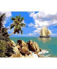 Картина по номерам Пиратский остров 40 х 50 см (AS0262)