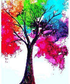 Картина по номерам Яркое дерево 40 х 50 см (AS0306)