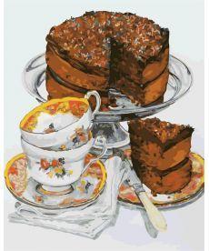 Картина по номерам Шоколадный тортик 40 х 50 см (AS0308)