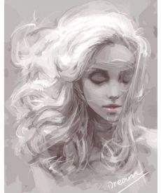 Картина по номерам Девушка из снов 40 х 50 см (BK-G114)