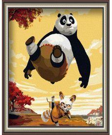 Картина по номерам Панда кунг-фу 40 х 50 см (BK-G136)