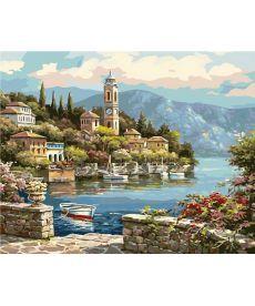Картина по номерам Портовный городок 40 х 50 см (BK-G440)