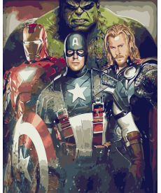 Картина по номерам Мстители 40 х 50 см (BK-G449)
