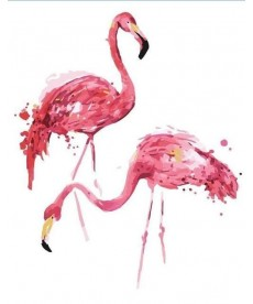 Картина по номерам Парочка фламинго 40 х 50 см (BK-G472)