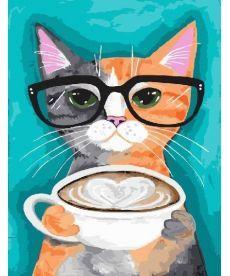 Картина по номерам За чашкой латте 40 х 50 см (BK-GX22698)