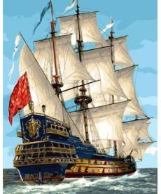Картина по номерам Парусник королевской флотилии 40 х 50 см (BK-GX23186)