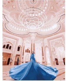 Картина по номерам Девушка в мечети Аль-Нур 40 х 50 см (BK-GX23776)