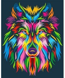 Картина по номерам Радужный волк 40 х 50 см (BK-GX23828)