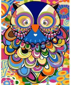 Картина по номерам Абстрактная сова 40 х 50 см (BK-GX24148)