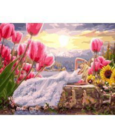 Картина по номерам Девушка среди цветов 40 х 50 см (BK-GX24350)
