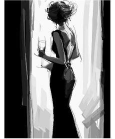 Картина по номерам Девушка в вечернем платье 40 х 50 см (BK-GX3165)