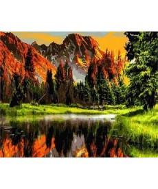 Картина по номерам Закат в горной долине 40 х 50 см (BK-GX3348)