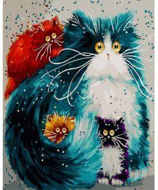 Картина по номерам Мама кошка 40 х 50 см (BK-GX3805)
