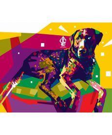 Картина по номерам Радужная собака 40 х 50 см (BK-GX3960)