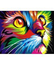Картина по номерам Радужный кот 40 х 50 см (BK-GX4228)