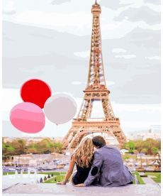 Картина по номерам Парижская любовь 40 х 50 см (BK-GX4886)