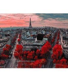 Картина по номерам Алые краски Парижа 40 х 50 см (BK-GX4887)