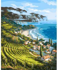 Картина по номерам Виноградники Италии 40 х 50 см (BK-GX4960)
