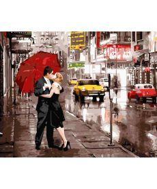 Картина по номерам Поцелуй в большом городе 40 х 50 см (BK-GX5003)