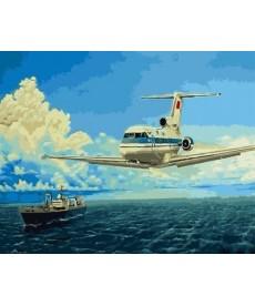 Картина по номерам Два лайнера 40 х 50 см (BK-GX5675)