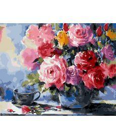 Картина по номерам Розы на столе 40 х 50 см (BK-GX5732)