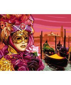 Картина по номерам Венецианская маска 40 х 50 см (BK-GX6928)