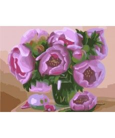 Картина по номерам Розовые пионы 40 х 50 см (BK-GX7264)