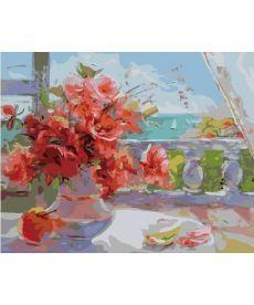 Картина по номерам Розы на веранде 40 х 50 см (BK-GX7341)