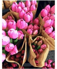 Картина по номерам Продавец тюльпанов 40 х 50 см (BK-GX7520)