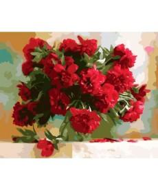 Картина по номерам Красные пионы 40 х 50 см (BK-GX7527)