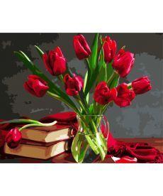Картина по номерам Букет тюльпанов 40 х 50 см (BK-GX8115)